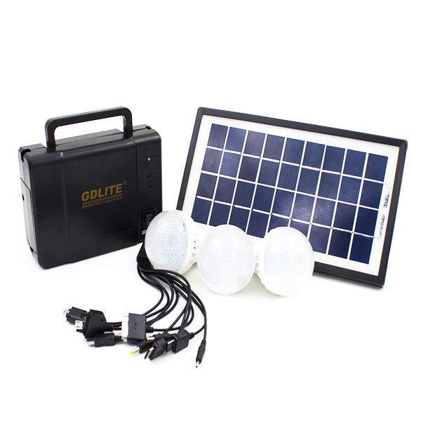 Ηλιακό Σύστημα Φωτισμού και Φόρτισης με Panel, Μπαταρία και 3 Λάμπες LED – Solar Power