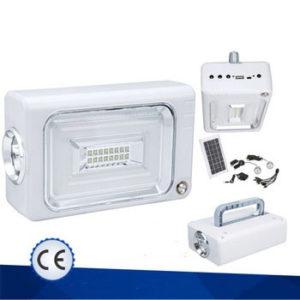 Ηλιακό Σύστημα Φωτισμού και Φόρτισης με Panel, Μπαταρία, φακό και 3 Λάμπες LED